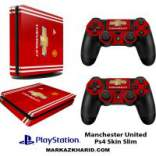 برچسب پلی استیشن 4 اسلیم Playstation 4 Slim Console and Controller Skin Sticker Manchester United