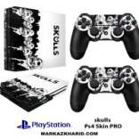 برچسب پلی استیشن 4 پرو Playstation 4 Pro Console and Controller Skin Sticker Skulls