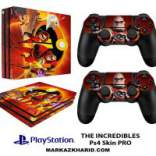 برچسب پلی استیشن 4 پرو Playstation 4 Pro Console and Controller Skin Sticker The Incredibles