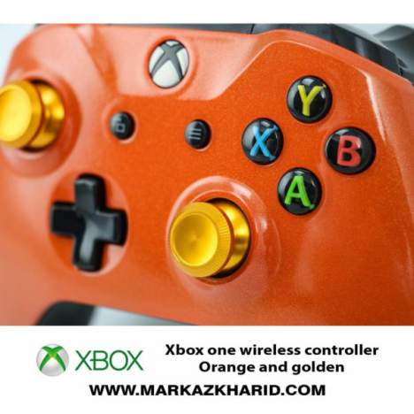 دسته بازی ایکس باکس Xbox one s wireless controller Orange and golden