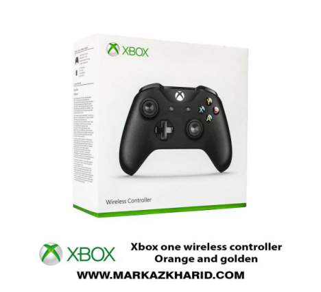 دسته بازی ایکس باکس Xbox one s wireless controllerOrange and golden