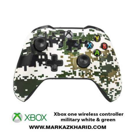 دسته بازی ایکس باکس Xbox one s wireless controller military white&green
