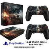 برچسب پلی استیشن 4 پرو Playstation 4 Pro Console and Controller Skin Sticker Last Stand Skull