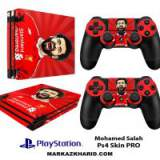 برچسب پلی استیشن 4 پرو Playstation 4 Pro Console and Controller Skin Sticker Mohamed Salah
