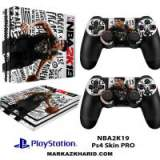برچسب پلی استیشن 4 پرو Playstation 4 Pro Console and Controller Skin Sticker NBA2K19