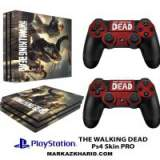 برچسب پلی استیشن 4 پرو Playstation 4 Pro Console and Controller Skin Sticker The Walking Dead