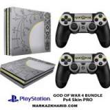 برچسب پلی استیشن 4 پرو Playstation 4 Pro Console and Controller Skin Sticker god of war 4 bundle