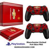 برچسب پلی استیشن 4 پرو Playstation 4 Pro Console and Controller Skin Sticker Manchester United