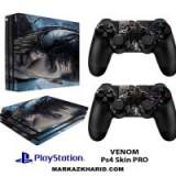 برچسب پلی استیشن 4 پرو Playstation 4 Pro Console and Controller Skin Sticker Venom