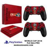 برچسب پلی استیشن 4 پرو Playstation 4 Pro Console and Controller Skin Sticker World Cup 2018