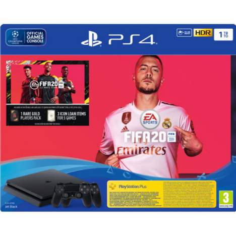 کنسول بازی پلی استیشن 4 اسلیم 1 ترابایت پک فیفا 20 FIFA 20 Bundle two controllers R2 1Tb CUH 2216A