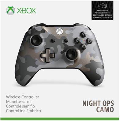 دسته ایکس‌باکس مدل Wireless Controller – Camo Night Ops Special Edition