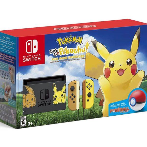 Nintendo Switch Console Bundle- Pikachu & Eevee Edition with Pokemon