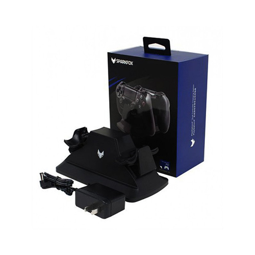 SparkFox Dual Controller Charging Station Black