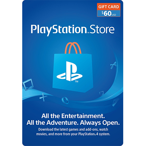 $60 PlayStation Store Gift Card