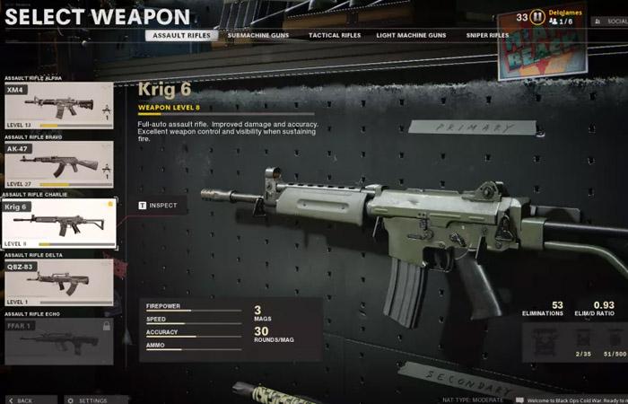 بهترین تفنگ بازی Black ops cold war