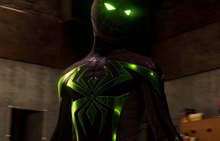 لباس سبز Purple Reign Suit اسپایدرمن مایلز مورالز