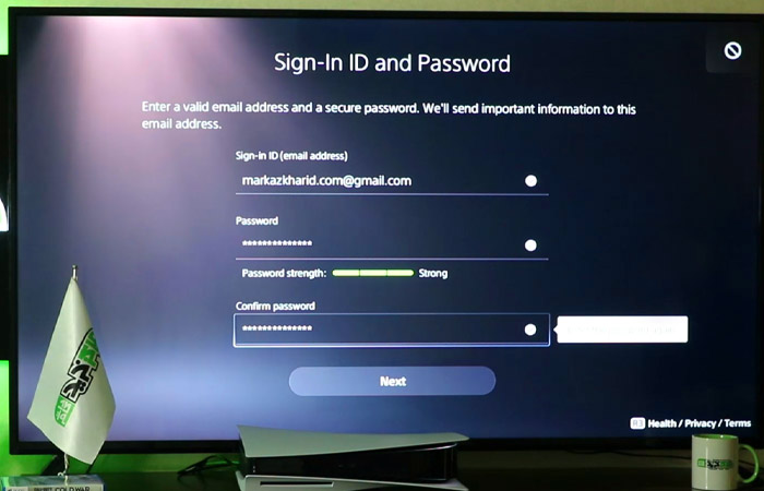 Create PS5 Account