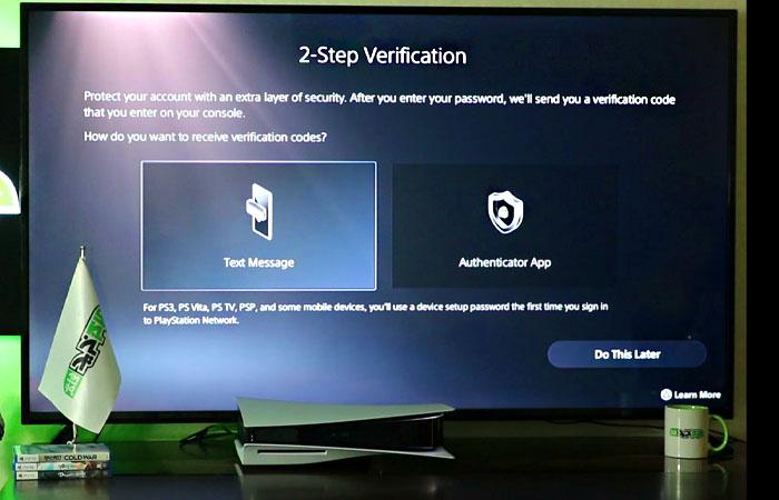 فعال کردن رمز دو مرحله ای ps5