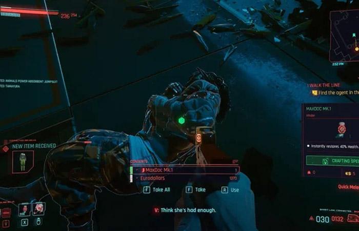 نحوه دریافت رمز پول بی نهایت در Cyberpunk 2077