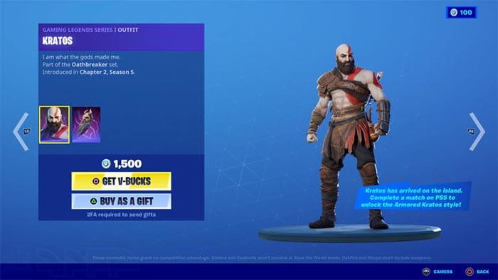 باز کردن پوسته Kratos در فورتنایت