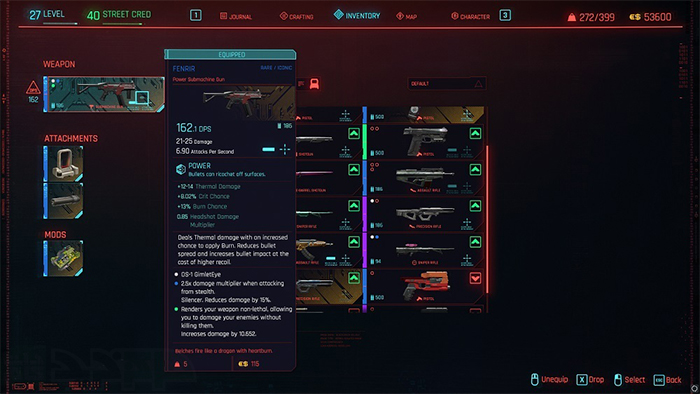 سلاح های Cyberpunk 2077