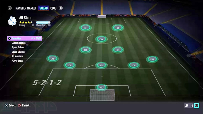 ترکیبات فیفا 21