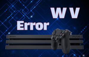 کد ارور WV پلی استیشن ۴