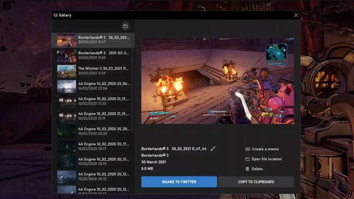 Xbox Game Bar در ویندوز 10