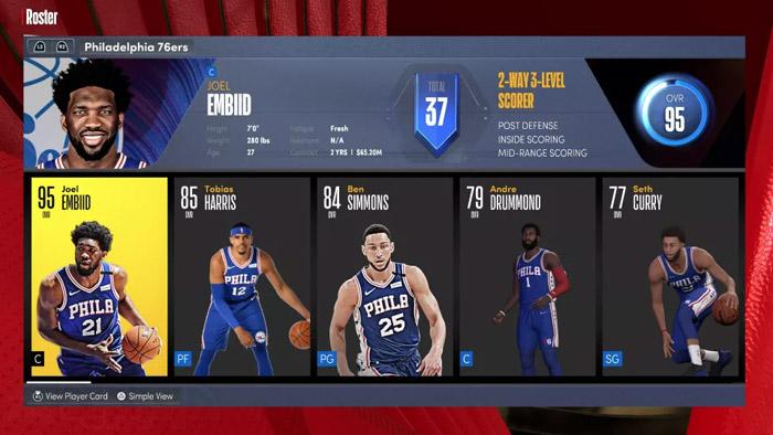 بازیکن برتر NBA 2K22